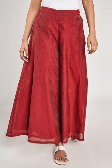 Global Desi | Red Self Design Bottom