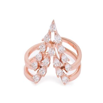 globus | Globus Rosegold Statement Ring