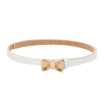 globus | Globus White Thin Belt