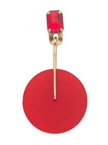 globus | Globus Red Long Earring