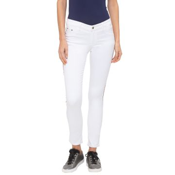 globus | Globus White Solid Jeans