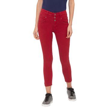 globus   Globus Red Solid Jeans
