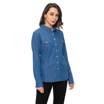 globus   Globus Blue Solid Shirt
