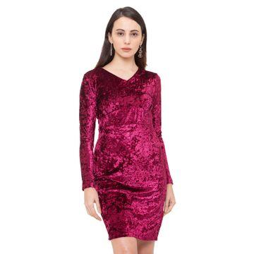 globus | Globus Maroon Solid Dress