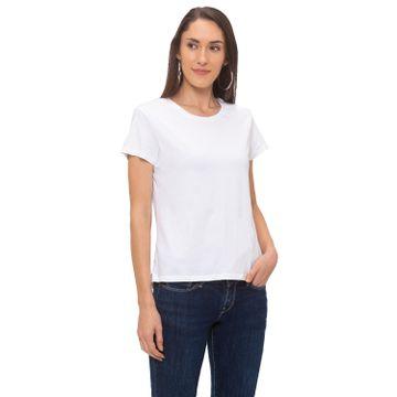 globus | Globus White Solid T-Shirt