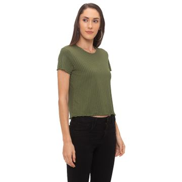 globus | Globus Olive Striped Top