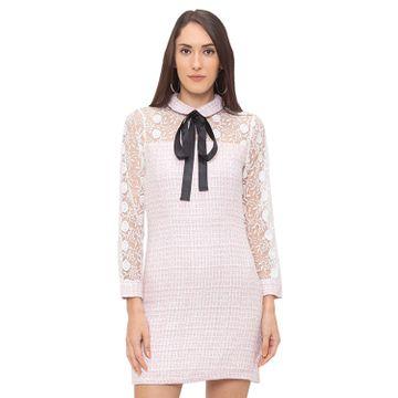 globus | Globus Pink Self Design Dress
