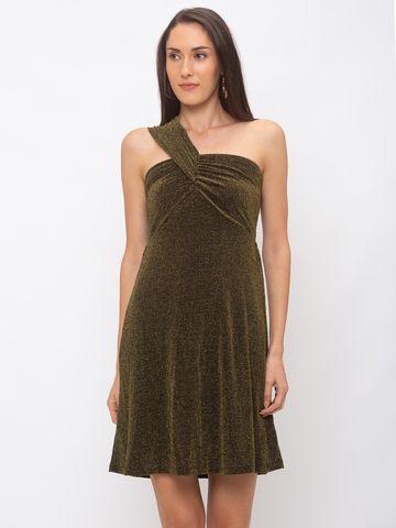 globus | Globus Gold Embellished Dress