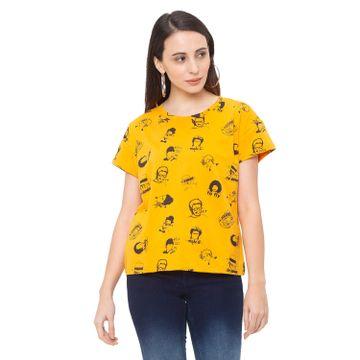 globus | Globus Mustard Printed T-Shirt