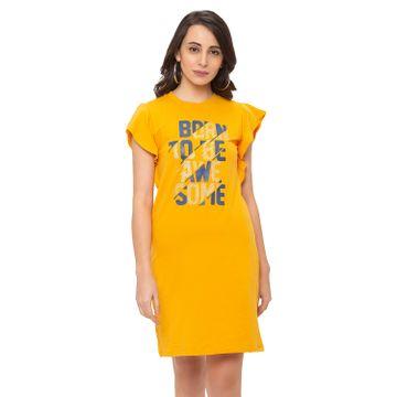 globus   Globus Mustard Printed Dress