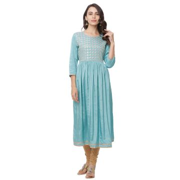 globus | Globus Blue Embellished Casual Dress