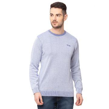 globus | Globus Blue Melange Solid Pullover Sweater