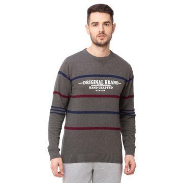 globus   Globus Anthra Melange Striped Pullover Sweater