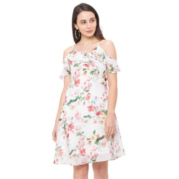 globus | Globus White Printed Dress
