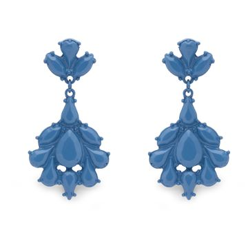 globus | Globus Blue Long Earring