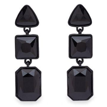 globus   Globus Black Dangling Stud Earring