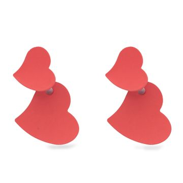 globus | Globus Red Dangling Stud Earring