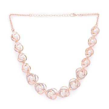 globus | Globus Rose Gold Statement Necklace