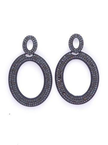 globus | Globus Black Long Earring