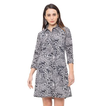 globus | Globus Black Printed Dress