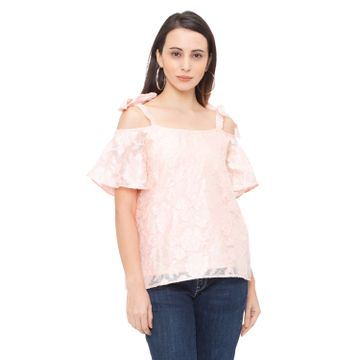 globus | Globus Pink Self Design Top