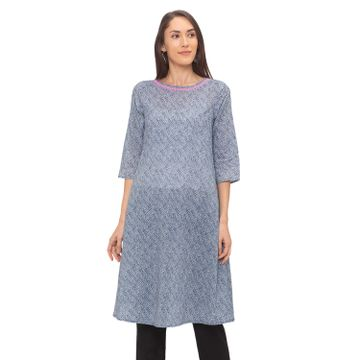 globus | Globus Grey Abstract Kurta