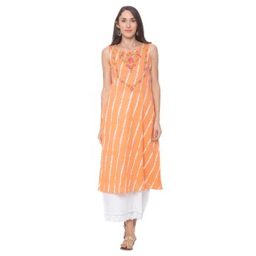 globus | Globus Peach Striped Kurta