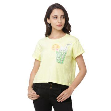 globus | Globus Green Printed T-Shirt