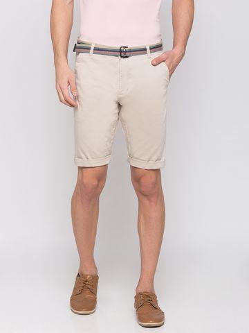 globus | Globus Beige Solid Shorts