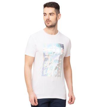 globus | Globus White Printed T-Shirt