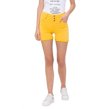 globus | Globus Yellow Solid Shorts