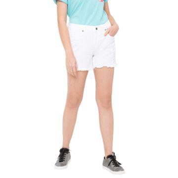 globus | Globus White Solid Shorts