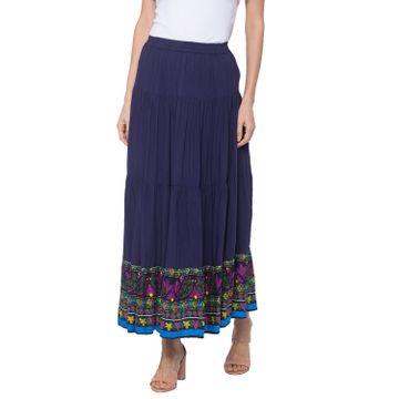 globus | Globus Blue Printed Skirt