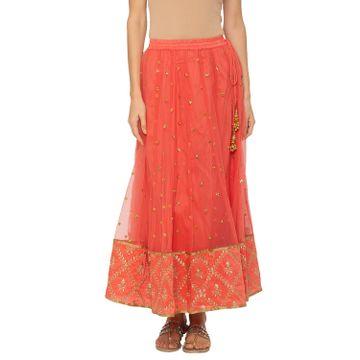 globus | Globus Coral Embellished Skirt