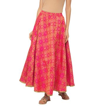 globus | Globus Pink Printed Skirt