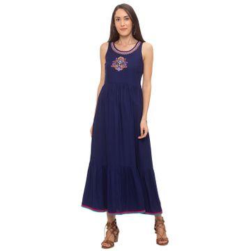 globus | Globus Navy Blue Printed Dress