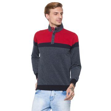 globus   Globus Grey & Red Colourblocked Sweatshirt