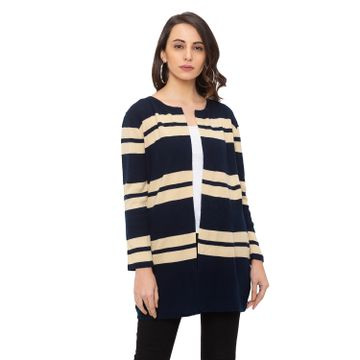 globus | Globus Navy Blue Striped Cardigan
