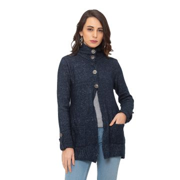 globus | Globus Navy Blue Solid Coat