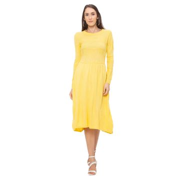 globus   Globus Yellow Solid Dress