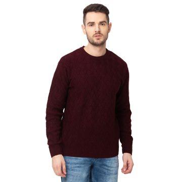 globus | Globus Wine Self Design Pullover Sweater