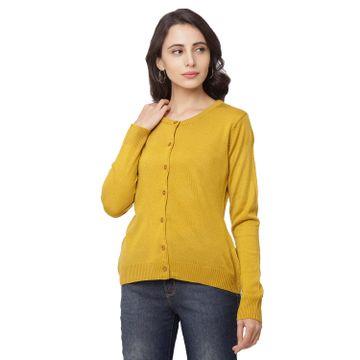 globus | Globus Mustard Solid Cardigan