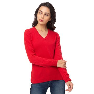 globus | Globus Red Solid Sweater