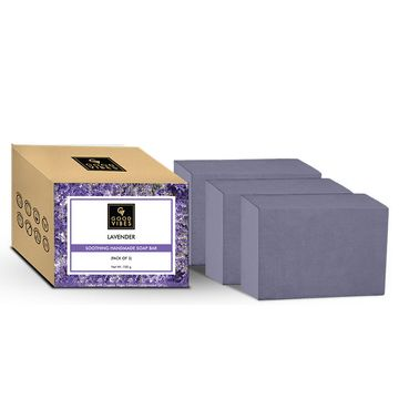 Good Vibes | Good Vibes Lavender Soothing Handmade Soap Bar (Pack of 3) - 100g x 3