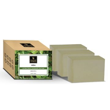 Good Vibes | Good Vibes Neem Anti-bacterial Handmade Soap Bar (Pack of 3) - 100g x 3