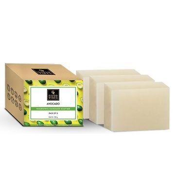 Good Vibes | Good Vibes Avocado Nourishing Handmade Soap Bar (Pack of 3) - 100g x 3
