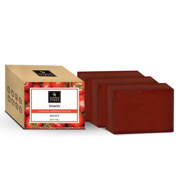 Good Vibes | Good Vibes Tomato Clarifying Handmade Soap Bar (Pack of 3) - 100g x 3