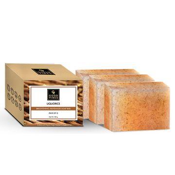 Good Vibes | Good Vibes Liquorice Brightening Handmade Soap Bar (Pack of 3) - 100g x 3
