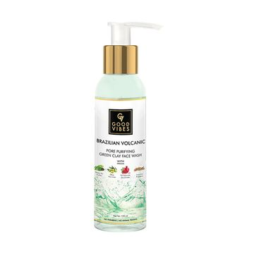 Good Vibes | Good Vibes Brazilian Volcanic Pore Purifying Green Clay Face Wash (120 ml)