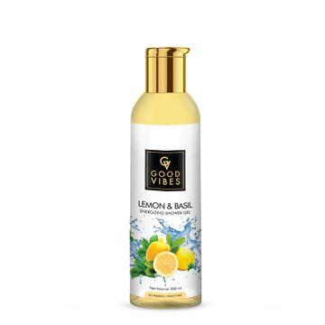 Good Vibes | Good Vibes Energizing Shower Gel (Body Wash) - Lemon & Basil (200 ml)